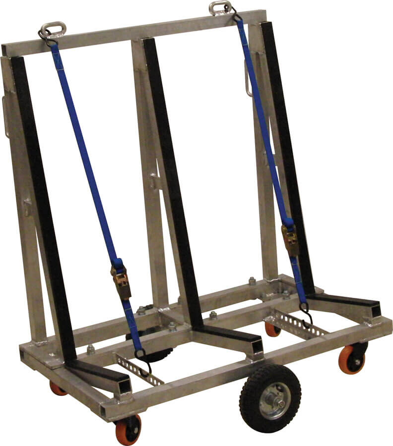 "Light Weight Aluminum Cart 40"" Long"