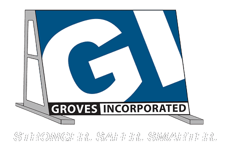 Groves Incorporated Logo White
